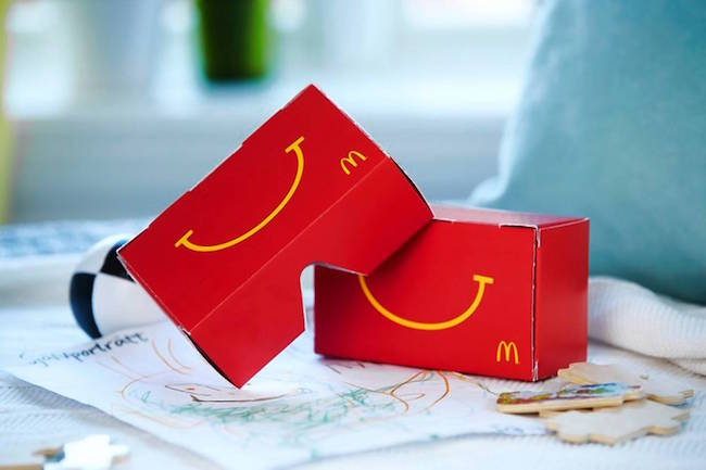 McDonald's, l'Happy Meal si trasforma in un visore per la realtà virtuale