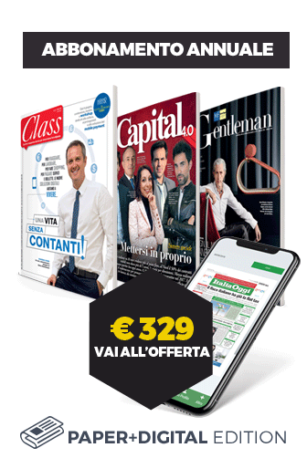 Acquista l'abbonamento annuale carta+digitale a Italia Oggi, Class, Capital e Gentleman