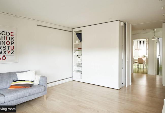 Ikea l evoluzione del mobile le pareti mobili for Armadi per piccoli spazi